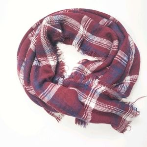 5/$25 Oversized Blanket Scarf Plaid Square